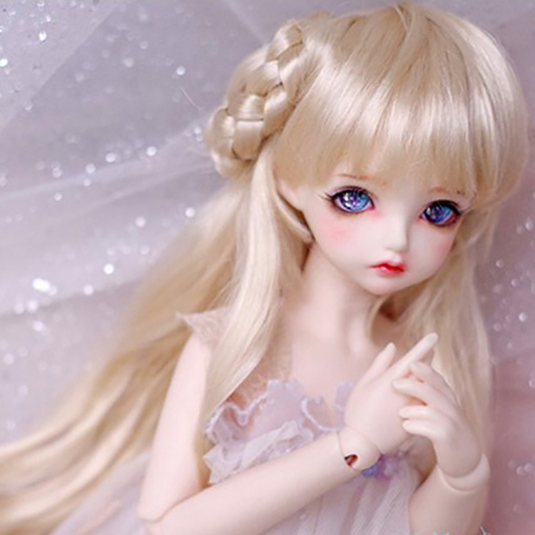 Collection Here 1/3 1/4 1/6 Bjd/sd Doll Wig Gold Double Ponytail Long Curly Doll Hair Doll Accessories Diy Hair Style Doll Hair Wig In Stock