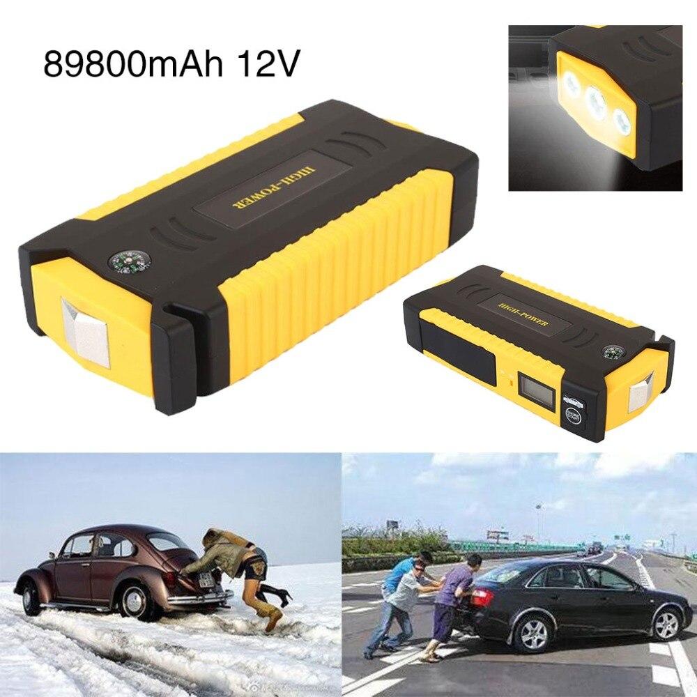 Vehemo démarreur de saut de voiture 89800 mAh 600A Portable batterie externe dispositif de démarrage Booster chargeur de voiture d'urgence pour chargeur de batterie de voiture
