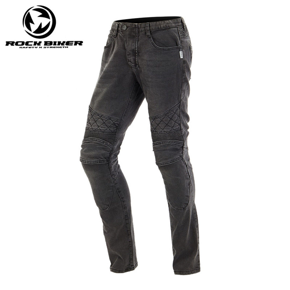 Rock Biker Motorcycle Jeans Protective Gears Motorcycle Racing Pants 81648 Windproof Jeans Skinny Moto With CE Protectors