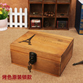 No. manufacturers selling zakka do the old wooden storage vintage wood table locking storage box home
