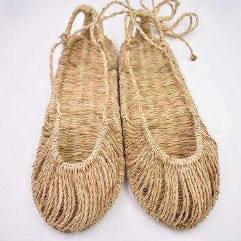 472939195ebf AGESEA verano nuevas sandalias tejidas a mano estilo retro sandalias  caseras 2018 nuevo producto par zapatos 36-45 yardas