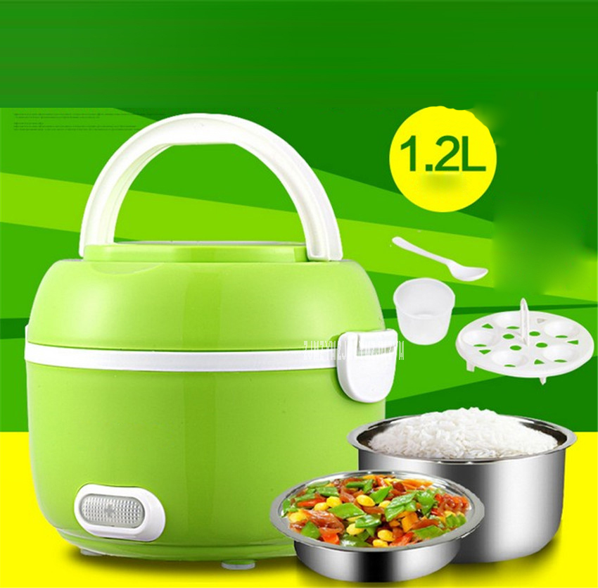 GZ05 Portable electric lunch box double layer can be heated lunch box plugging insulation cooking electric box electric steamer ...
