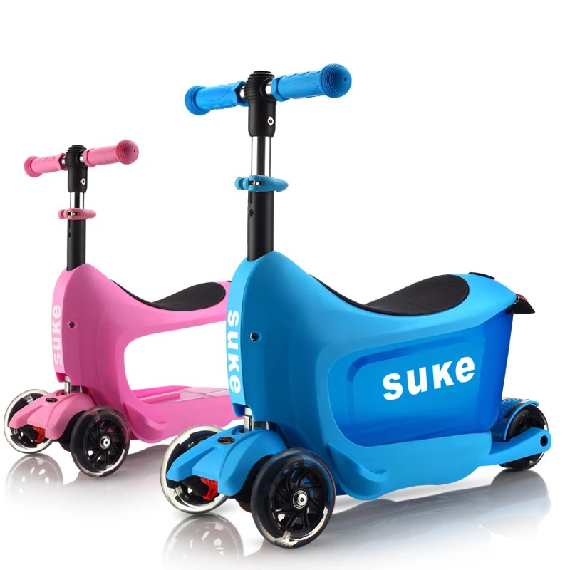 2019 Neue Kinder Multifunktions Super Skateboard Montierbar Und Abnehmbare Hohe Qualität Roll Gepäck Spinner Marke Reise Koffer üBerlegene Leistung