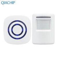 US Plug White Home Wireless Doorbell 433MHz Transmitter Kit Door Bell Kit Receiver 38 Ringtone Low