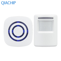 US Plug White Home Wireless Doorbell 433MHz Transmitter Kit Door Bell Kit Receiver 38 Ringtone Low