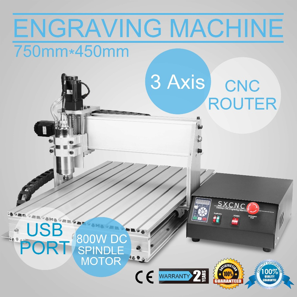 3 AXIS 6040 CNC ROUTER ENGRAVER ENGRAVING Machine Drilling/Milling 1.5KW VFD Spindle And The Matching Inverter 1605 Ball Screws