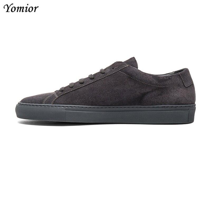 Yomior haute qualité hommes chaussures décontractées mode automne chaussures confortables en cuir véritable appartements formels mocassins blancs baskets