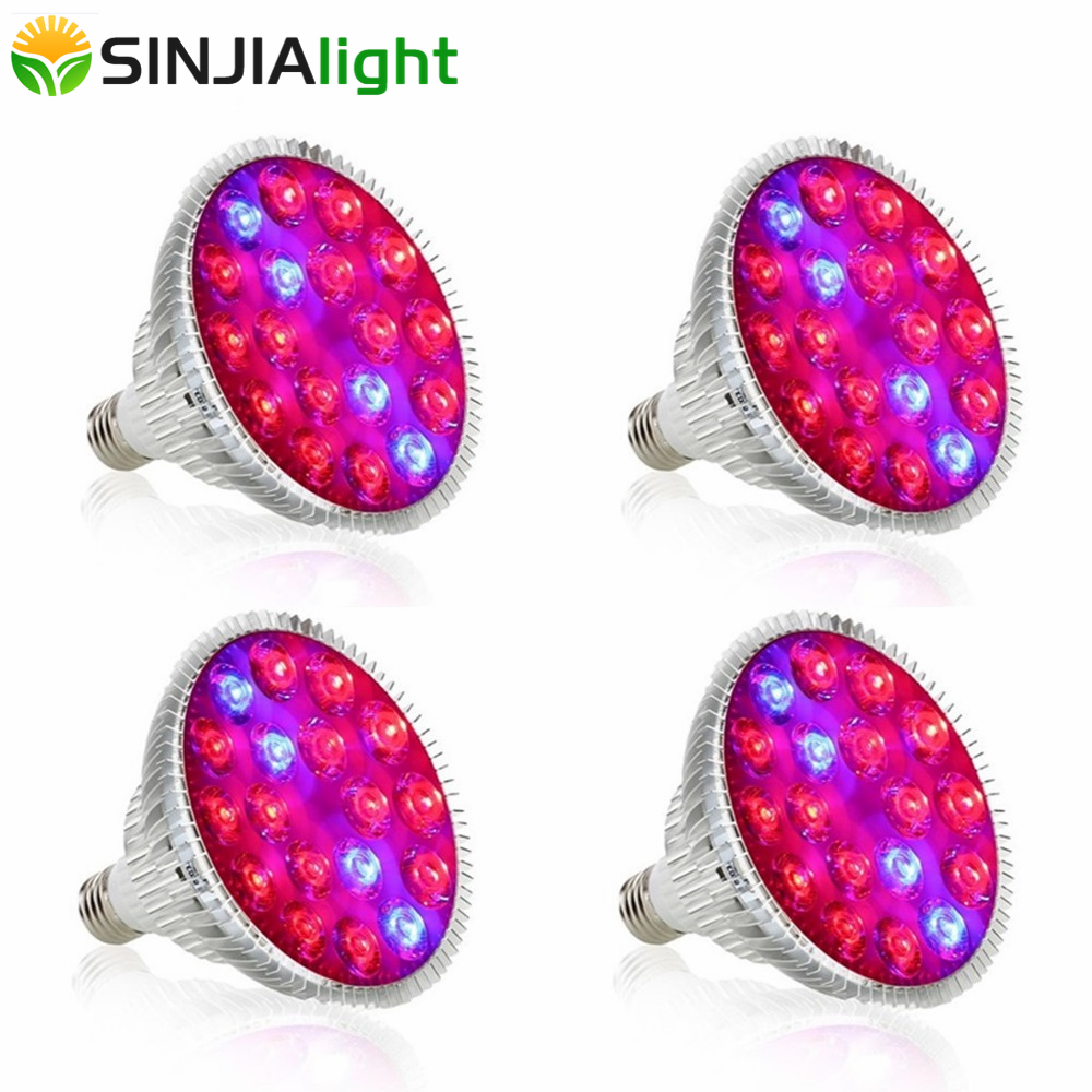 4pcs lot 54W LED Grow Light 18LEDs Red Blue Plant Growing Lamp Bulbs for garden flowers