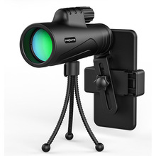 Monocular 12X42 Zoom Vision Telescope 10x42  Optics BAK4 Prism Spotting Scope with Tripod and Cellphone Holder Spyglass Catalejo svbony sv13 spotting scope 20 60x zoom 80mm multi coated optics refractor 45 degree monocular telescope 49 long tripod f9314ab