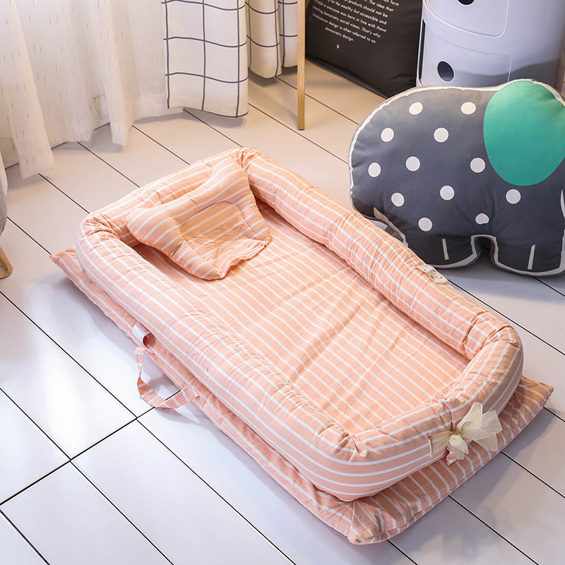 Foldable Baby Travel Bed Portable Newborn Nursery Crib Sleep Pod with Cot Bed Bumper Mattress Baby Pillow Bedding Set for 0 24M-in Bedding Sets from Mother & Kids    3