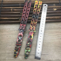 Attractive Colorful 440C Stainless Steel Knife Butterfly Training Knife Butterfly In Knife Cosplay Knife Dull Tool