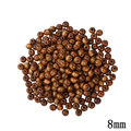 Hot 8mm Coffee Natural Wooden Round Beads 300pcs/Lot European Wood Two Hole Brown Prayer Beads For Kids DIY Jewelry Making Fit