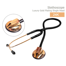 Luxury gold high quality Carent CRT868 double dual-use or single head Medical stethoscope doctor hospital pro free shipping