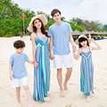2017 vestidos de playa madre me bohemio padre e hijo madre e hija familia mirada clothing mangas trajes a juego de la familia