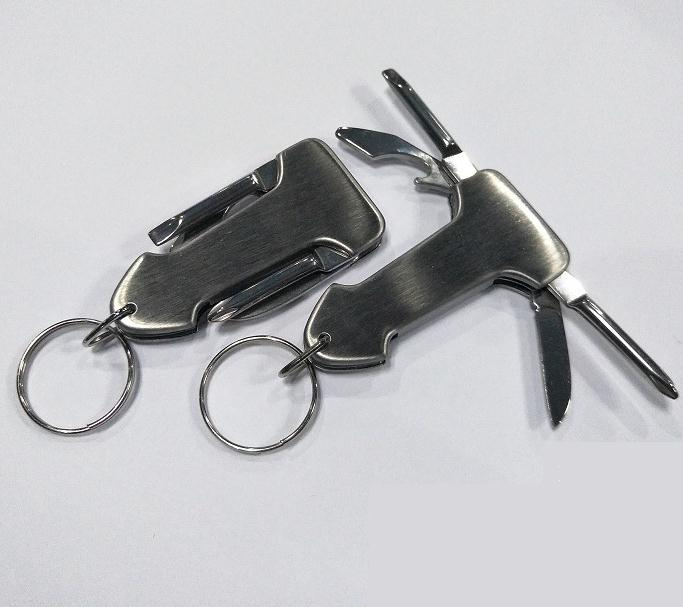 100pcs 4 In 1 Multifuction Keychain Cross Straight Screwdriver Knife Can Bottle Opener Promotion Gift Custom Logo SN1957