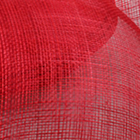 Желтая Свадебная расческа для волос sinamay, аксессуары для волос, Популярные головные уборы для женщин, вечерние головные уборы - Цвет: Красный