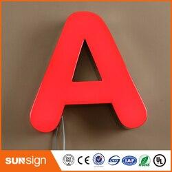 Commercio all'ingrosso frontlit resina epossidica LED lettere segno