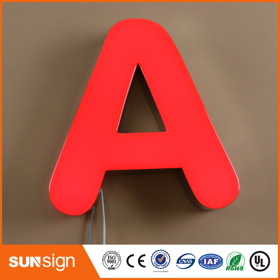 Wholesale Frontlit Epoxy Resin LED Letters Sign