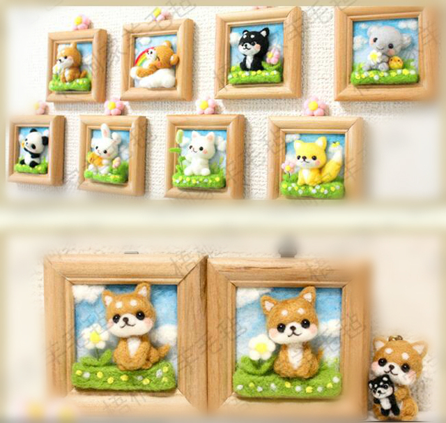 Frame Gardens Wool Felting Needlepoint Kit Animal Felt Craft Supply