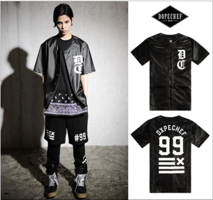 2015 fashion men 39 s baseball tee shirts famous brand men leather hip hop t shirt dxpe printed man. Black Bedroom Furniture Sets. Home Design Ideas