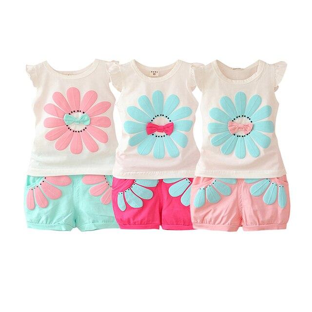 46cff150f WEIXINBUY 2017 Summer Active Toddler Baby Girl Sweet Clothing Set ...