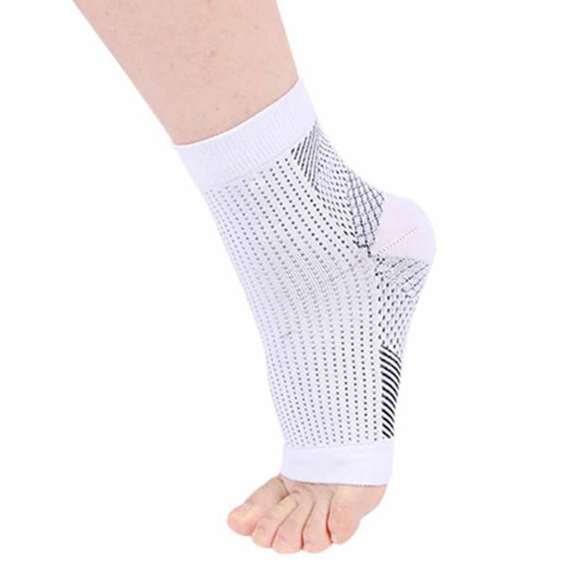 664d400c61f 1pcs Foot Compression Sleeve Anti Plantar Support Ankle Angel Socks Sports  Protector Basketball Soccer Ankle SupportRelief