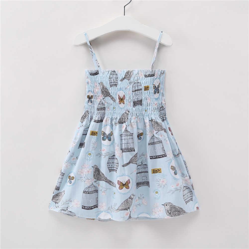 ชุดเด็ก Lacing Little Girls Beach Dresses เจ้าหญิงสลิง Strapless หลวมเด็กวัยหัดเดินเสื้อผ้าเด็กวันเกิดเสื้อผ้าฤดูร้อน