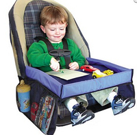 Child Car Seat Tray Waterproof Storage Children Toy Tray Toy Holder Tray Desk Infant Stroller Board