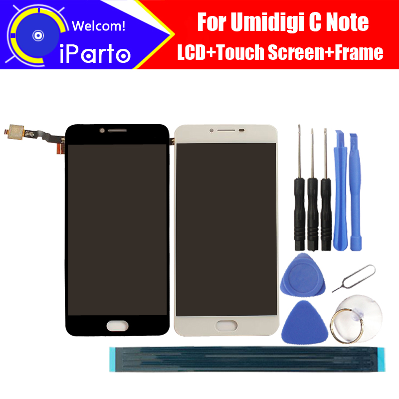 5.5 inch Umidigi C Note LCD Display+Touch Screen 100% Original Tested Digitizer Glass Panel Replacement For Umi C Note Phone