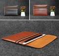 Laptop Sleeve Bag Microfiber PU Leather Case Carry Elastic Headband Cover For  Macbook Air/Pro 11.6 12 13.3 15.4 inch
