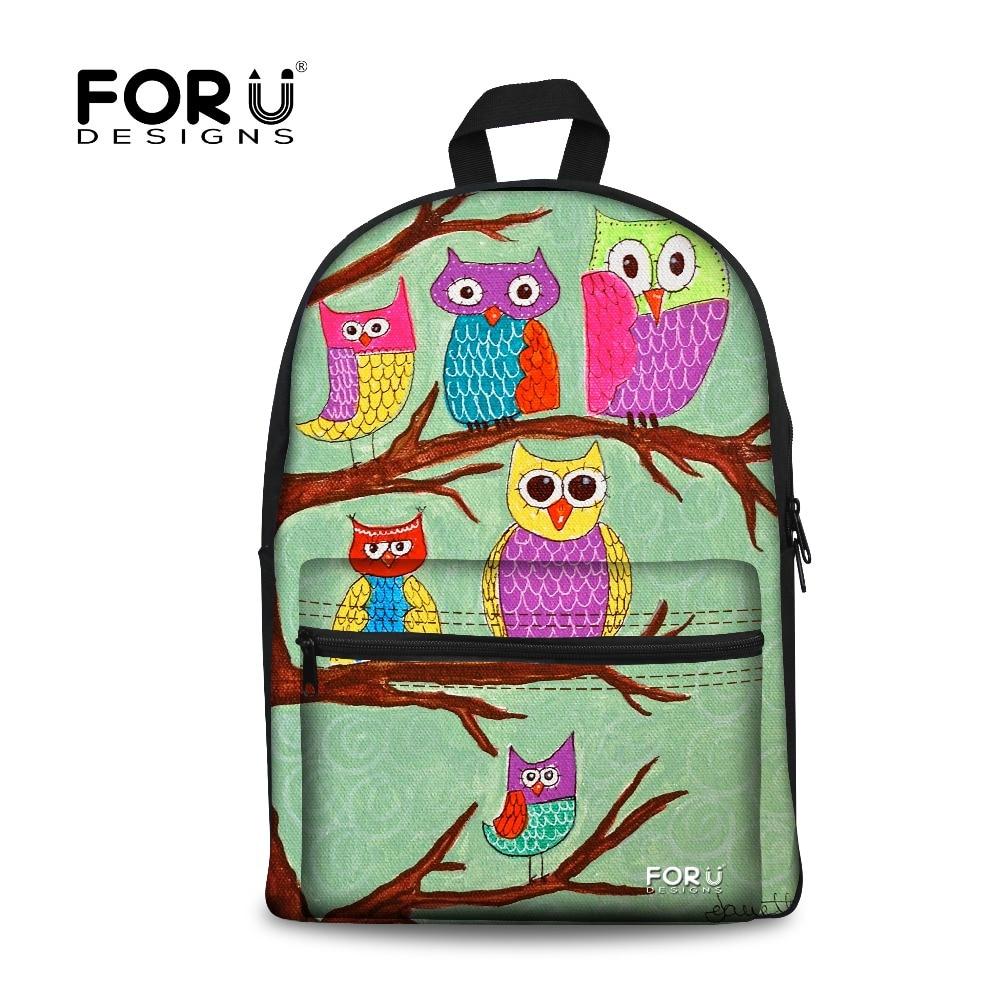 ②FORUDESIGNS Women Canvas Backpack Girls ᗑ School School ...