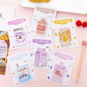 Image 3 - 32 pcs/lot Japanese Drink N Times Memo Pad Cute Self Adhesive Sticky Notes Bookmark Stationery Label Notepad School Supplies