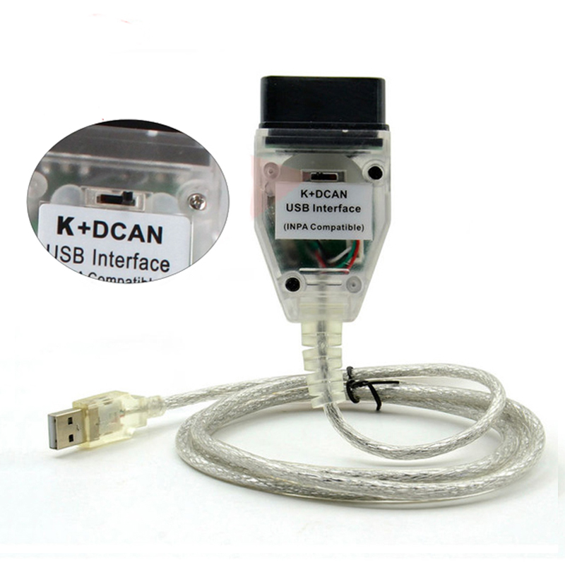 Pour BMW INPA K + CAN K PEUT INPA avec Interrupteur pour BMW INPA K DCAN USB Interface de diagnostic de voiture outil Câble