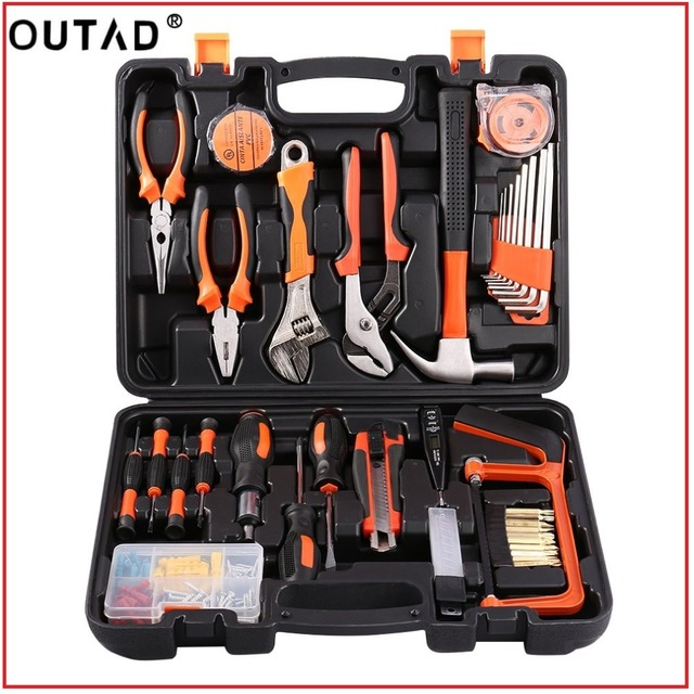 OUTAD100Pcs Robust lightweight Universal Multi-Functional Precision Maintenance Repair Hardware Instrumental Sets Home Tool Kits
