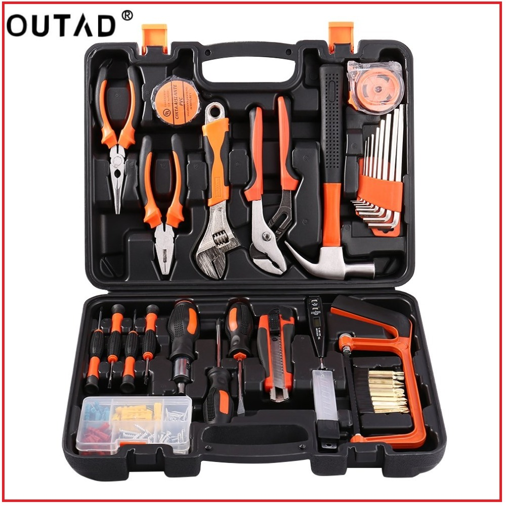 OUTAD100Pcs Robust lightweight Universal Multi Functional Precision Maintenance Repair Hardware Instrumental Sets Home Tool Kits