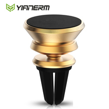 Yianerm Air Vent Mount Magnet Mobile Phone Holder Outlet Magnetic Car Phone Holder Stand For iPhone6/6lus,Samsung GalaxyS7