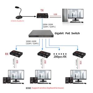 Image 4 - Mirabox HDMI KVM Extender 4K @ 30Hz מעל TCP IP תמיכה Gigabit PoE רשת מתג עד 383ft Cat6 כדי HDMI מקלט