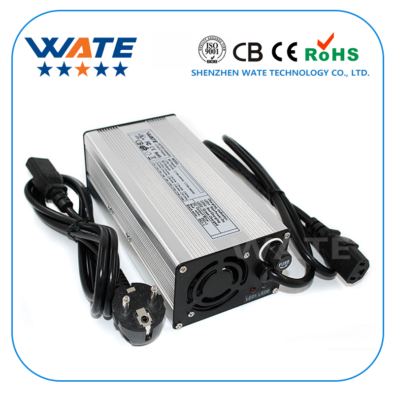 67.2V 5A Charger 16S 60V Li-ion battery charger E-bike lithium battery charger Silver aluminum case with fan 30a 3s polymer lithium battery cell charger protection board pcb 18650 li ion lithium battery charging module 12 8 16v