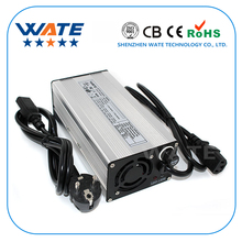 67.2V 5A Charger 16S 60V Li ion battery charger E bike lithium battery charger Silver aluminum case with fan