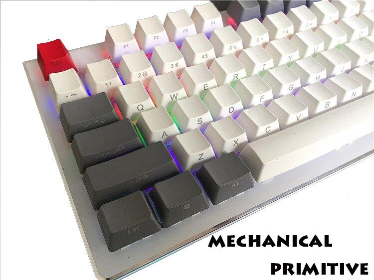 все цены на MP PBT 108 keycaps Radium vulture Retro White&Grey Side-printed OEM Profile Keycaps for FILCO NOPPOO etc Mechanical Keyboard онлайн