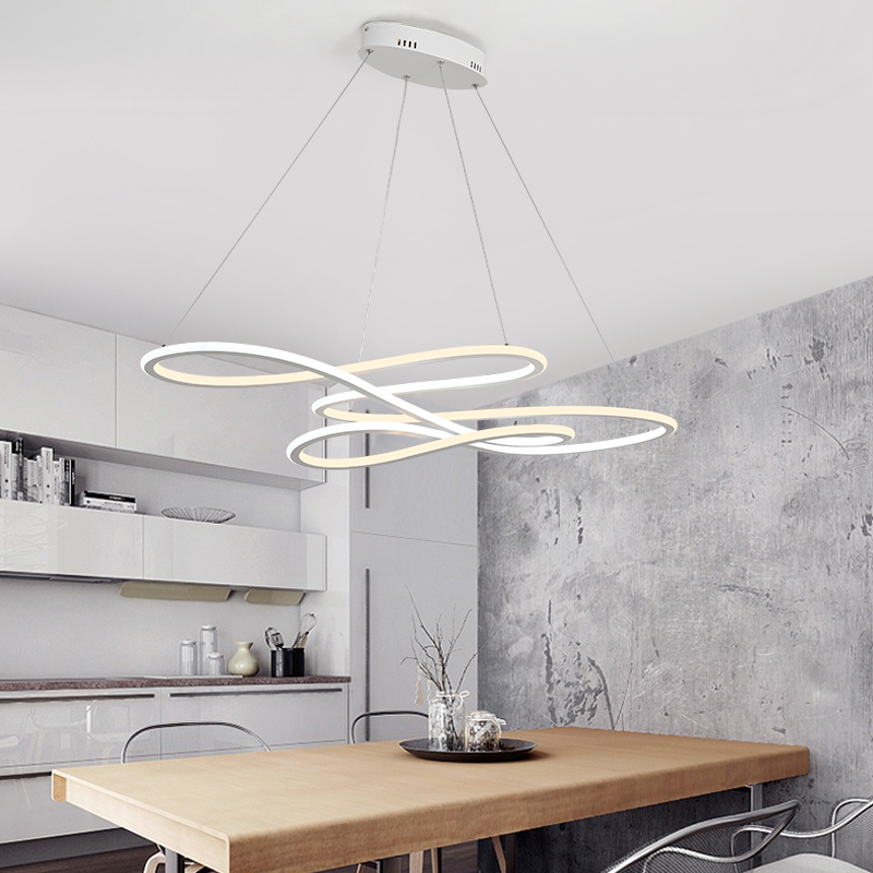 NEO Gleam Double Glow Modern led Pendant Light for Kitchen Dining Living Room suspension luminaire Hanging Pendant Lamp Fixtures
