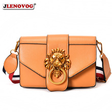 2019 Female Luxury Handbag Women Bags Designer Lion Head Lock Cross Body for High Quality Leather Shoulder Purse