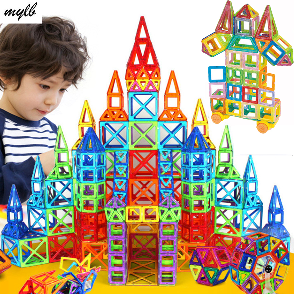 mylb New 164pcs Mini Magnetic Designer Construction Set Model & Building Toy Plastic Magnetic Blocks Educational Toys For Kids artkal beads 28 color with pegboards accessories box set perler mini beads plastic eva educational toys for children ca28