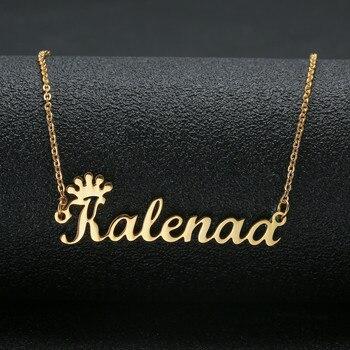 e02a916409be Hecho a mano de joyería personalizada cualquier nombre personalizado  collares de plata de los hombres collar de gargantilla de oro grabado de  dama de honor ...