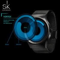 SK Creative Women S Quartz Watches Black Mesh Strap New Arrival 2017 Wristwatches For Ladies Fashion