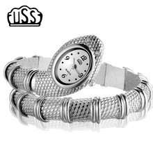 2018 New CUSSI style Snake Shaped watch Fashion Watch bracelet watch unique Design Women dress watches Girl relogio feminino