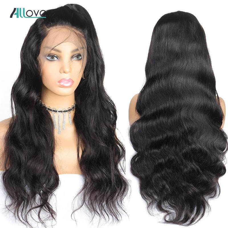 Pre Plucked Full Lace Human Hair Wigs Body Wave Wig Human Hair Lace Wig  Allove Full Lace Wigs For Black Women Brazilian Wig