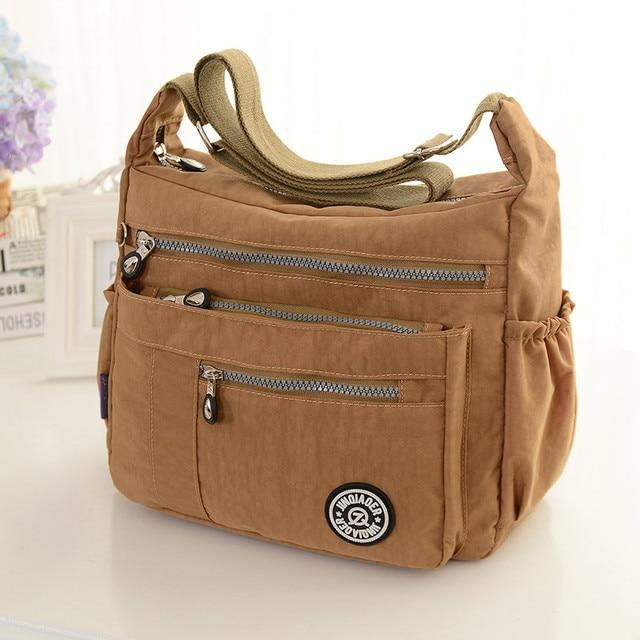 New chegar atacado moda ocasional saco de nylon impermeável saco do mensageiro do ombro #921