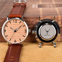 DODO DEER Wooden Metal Watch Men Women Genuine Leather Brand Design Lightweight Quartz Watches Accept Customize Dropshipping C03 все цены