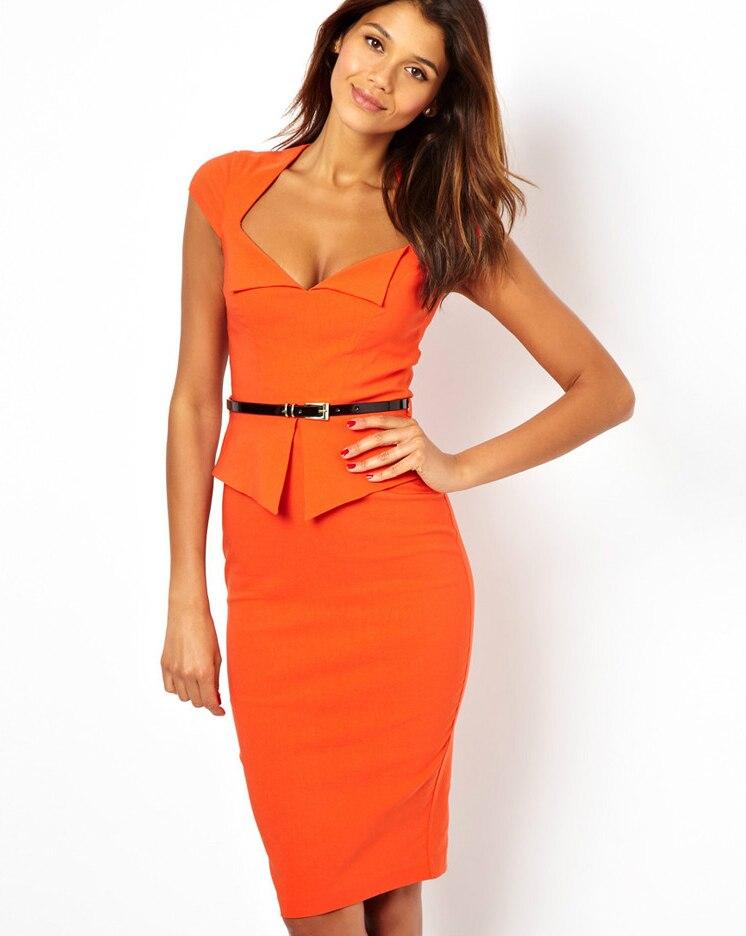 2014 New Design Vestidos Women Fashion Patchwork Zipper Knee ...
